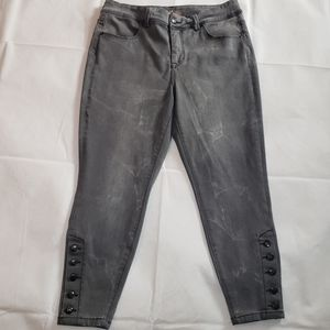 Melissa McCarthy Seven7  gray skinny jeans